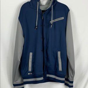 Aperture bonded fleece blue/grey jacket men's XL